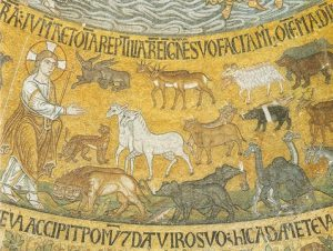 Icon of the Creation of the Animals (Mosaic) – CF760