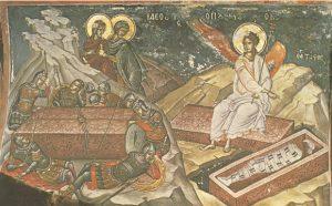 Icon of the Myrrh-Bearing Women at the Tomb – CF835