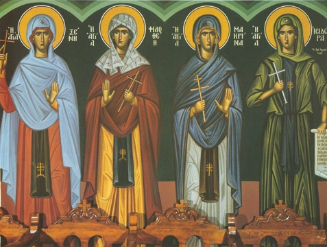 Icon of SS Xeni, Philothea, Makrin, and Isidora – CS1101