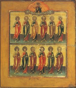 Icon of the Synaxis of the Twelve Apostles – CS1239