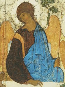 Icon of the Angel of Holy Trinity (Detail of F24) (Rublev) – CS1488
