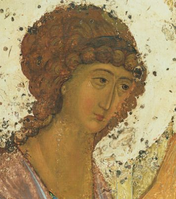 Icon of the Angel of Holy Trinity (Detail of F24) (Rublev) – CS1492