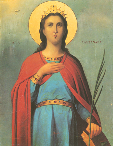 Icon of St. Alexandra, Wife of Diocletian – CS705