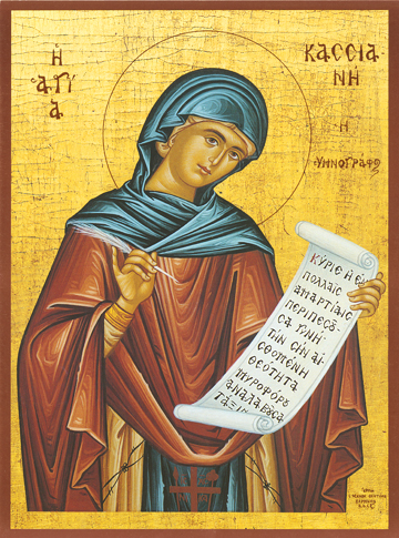 Icon of St. Cassiane the Hymnographer – CS708