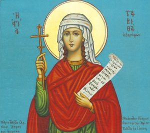 Icon of St. Tabitha, the Merciful – CS731
