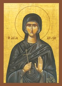 Icon of St. Chryse, New Martyr – CS789