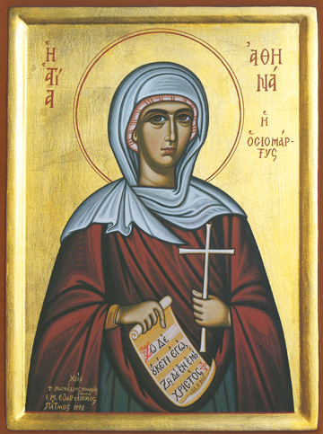 Icon of St. Athena, New Martyr – CS849