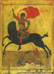 Icon of St. George and the Dragon - CS894