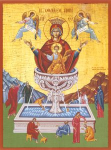 """Icon of the Theotokos """"Life-Giving Spring"""" – CT706"""