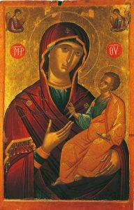 """Icon of the Panagia """"Eleusa"""" – CT732"""