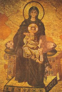 Icon of the Theotokos Enthroned – CT822