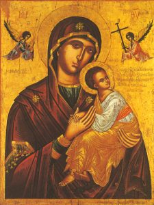 """Icon of the Panagia """"of the Passion"""" – CT870"""