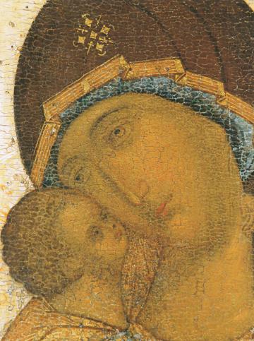 """Theotokos """"Kazanskaya"""" (Rublev) (Detail of CT977) – CT978"""