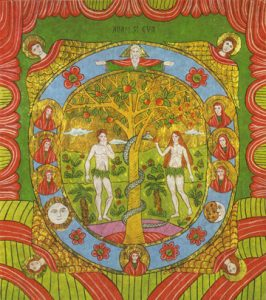 Icon of Adam and Eve in Paradise – F107