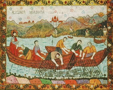 Icon of the Miraculous Draught of Fish – F108