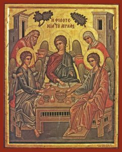 Icon of the Hospitality of Abraham – F16