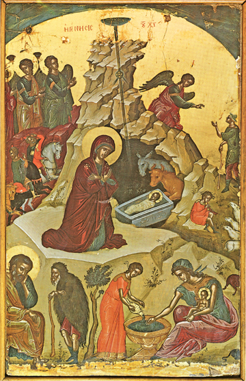 Icon of the Nativity of Christ (Theophanes) – F02