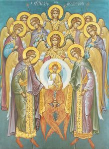 Icon of the Synaxis of the Holy Angels – F34