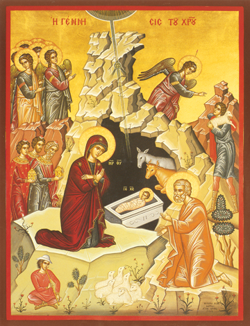Icon of the Nativity of the Lord – F43