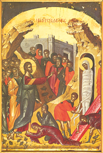 Icon of the Raising of Lazarus – F06