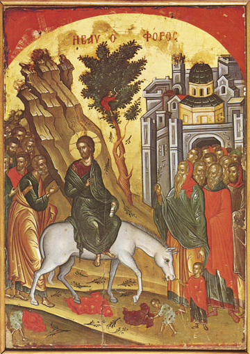 Icon of the Entry into Jerusalem – F07