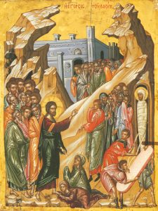Icon of the Raising of Lazarus –F97