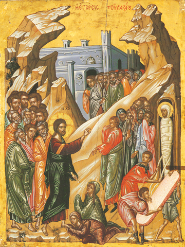 Icon of the Raising of Lazarus –F97