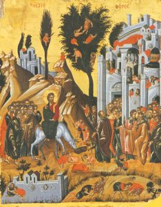 Icon of the Entry Into Jerusalem – F98