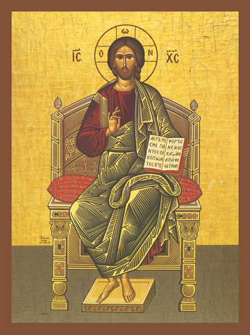 Icon of Christ Enthroned – J13