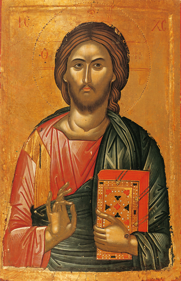 Icon of Christ Blessing – J16