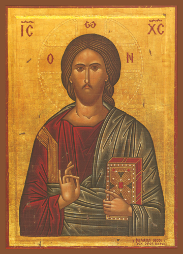 Icon of Christ Blessing – J02