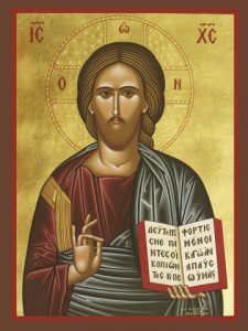 Icon of Christ Blessing – J45