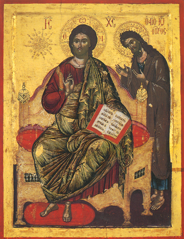 Icon of Christ Enthroned with John the Baptist – J59
