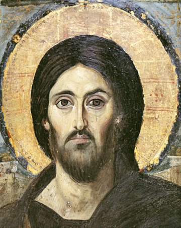 Icon of the Pantocrator (Sinai)(Detail of J24) – J08