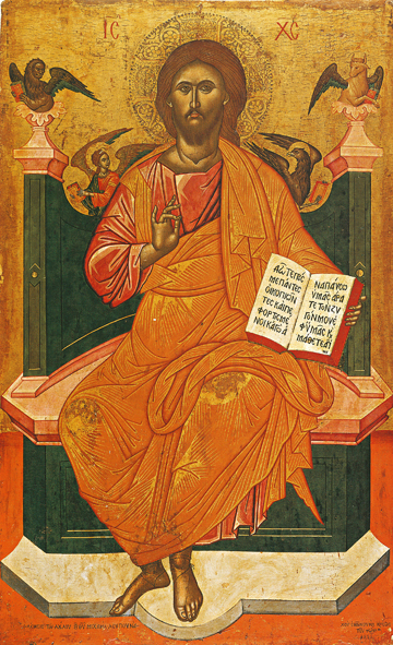 Icon of Christ Enthroned – J09