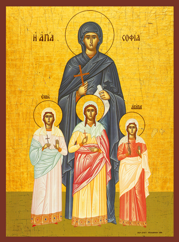 Icon of SS Sophia, Faith, Hope, and Love – S176