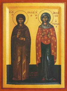 Icon of SS Pelagia and Anastasia – S219