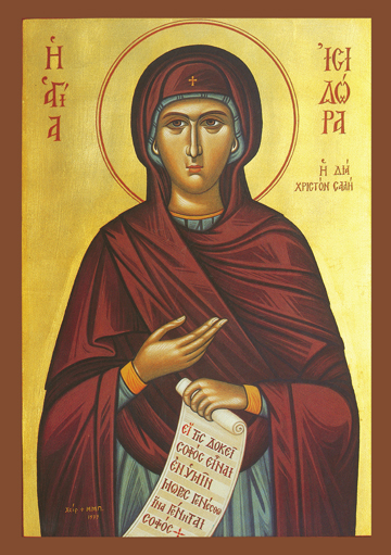 Icon of St. Isidora – Fool for Christ – S268
