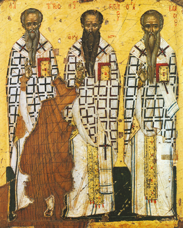 Icon of SS Titus, Gregory of Nyssa and Blaise – S332