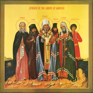 Icon of the Synaxis of the Saints of America – S344