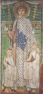 Icon of St. Demetrios with Two Children – S363