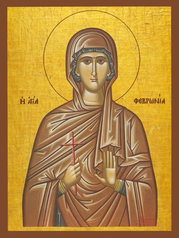 Icon of St. Febronia of Nisibis – S368
