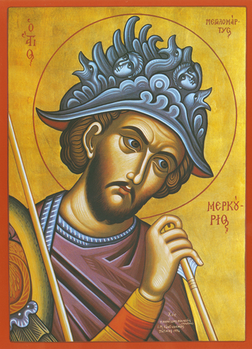 Icon of St. Mercurios the Great Martyr – S389