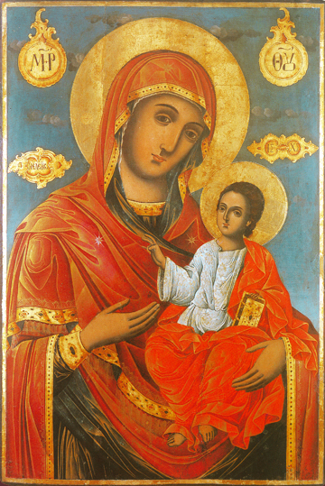"Icon of the Virgin Theotokos ""Eleusa""- T103"
