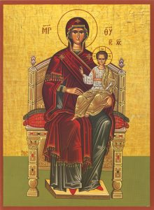 Icon of the Theotokos Enthroned – T10