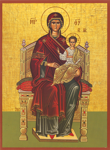 Icon of the Theotokos Enthroned – T10