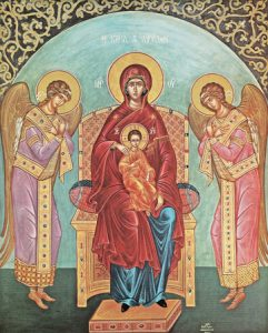 Icon of the Theotokos Enthroned (With Angels) – T15