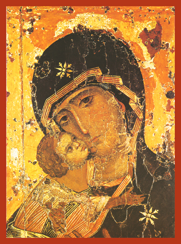 Icon of the Theotokos of Vladimir (Detail) – T23