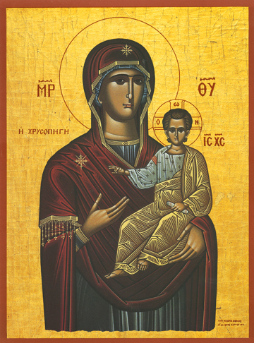 "Icon of the Panagia ""Golden Spring"" – T46"
