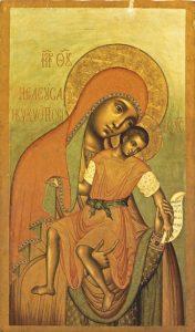 """Icon of the Theotokos """"Eleusa-Kiksk"""" – T65"""